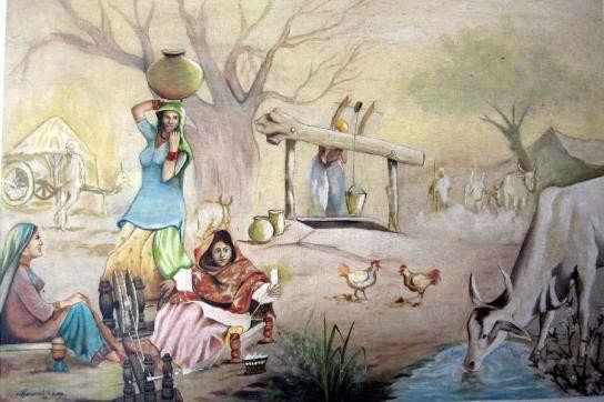 Mera Pind Painting